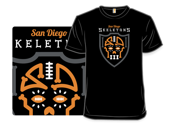 San Diego Skeletons T Shirt