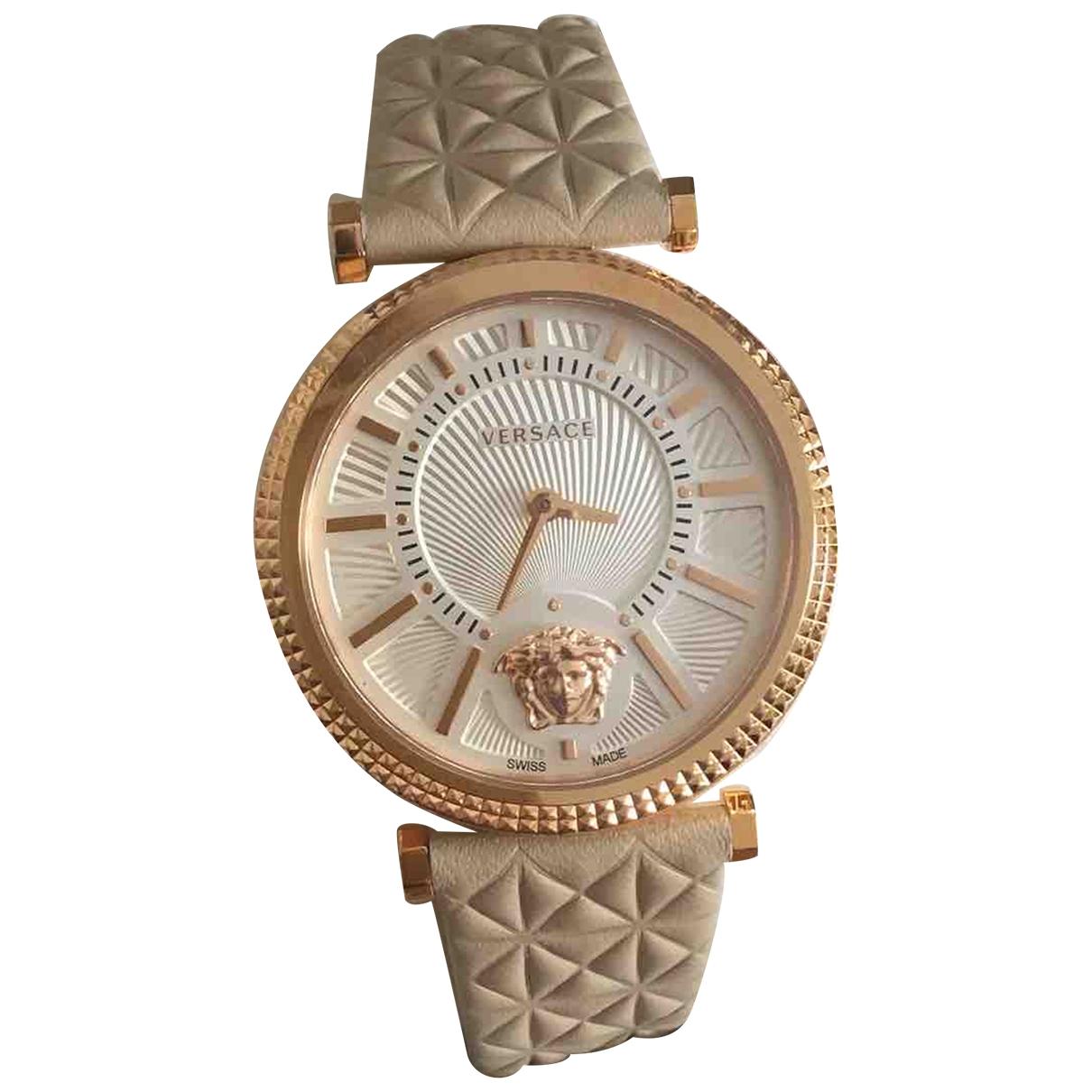 Versace \N Beige Steel watch for Women \N