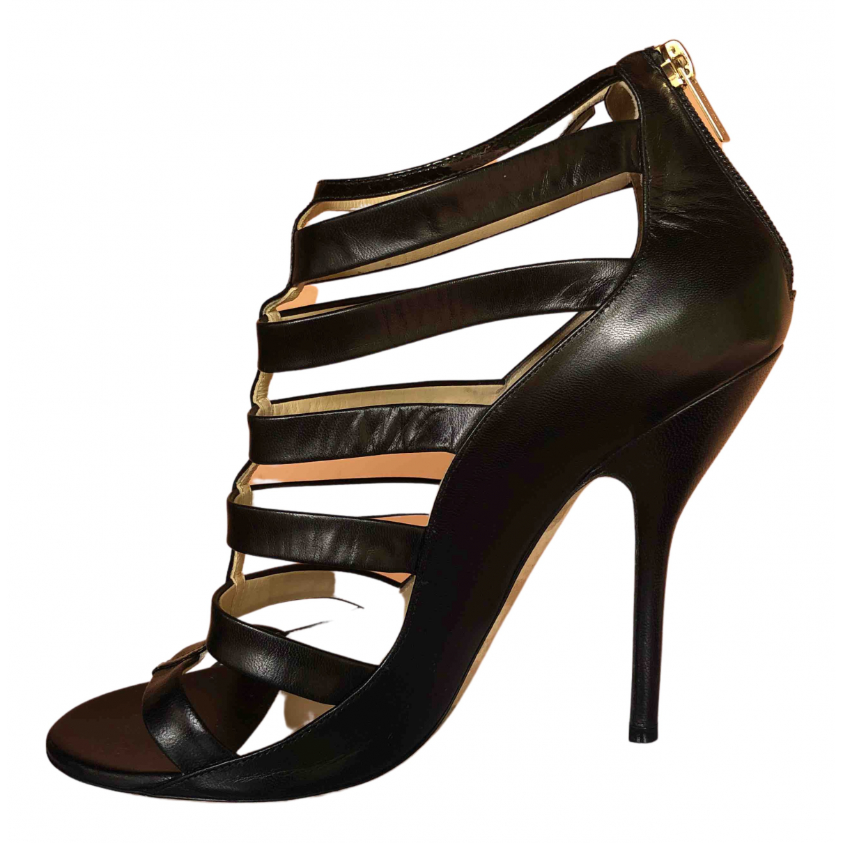 Jimmy Choo \N Black Leather Heels for Women 41 IT