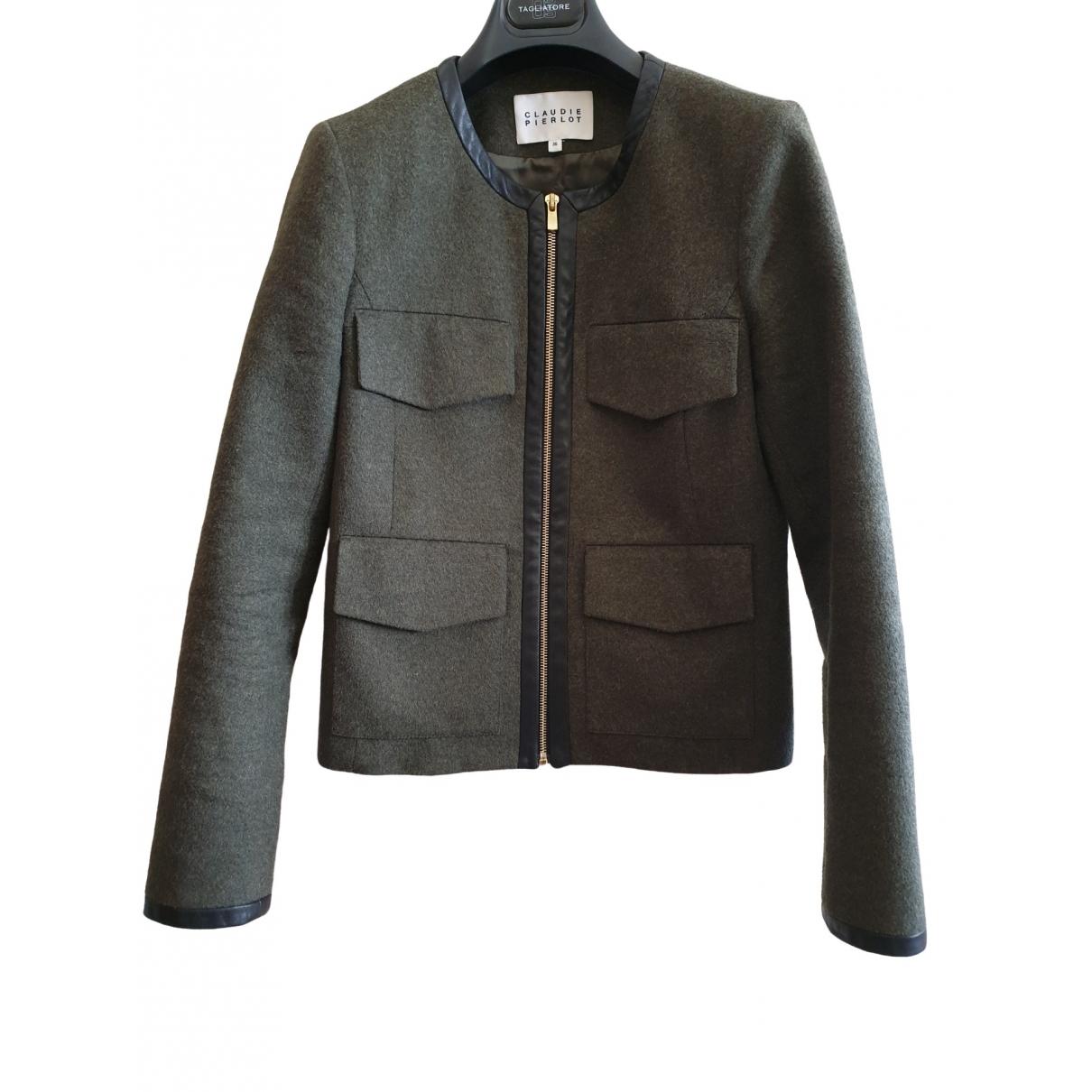 Claudie Pierlot \N Khaki Wool jacket for Women 36 FR