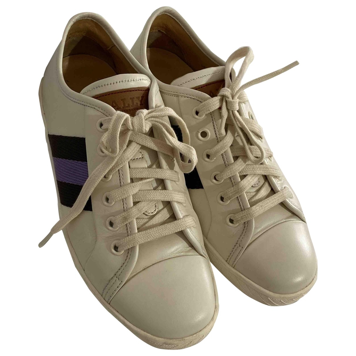 Bally \N White Leather Trainers for Women 5.5 US