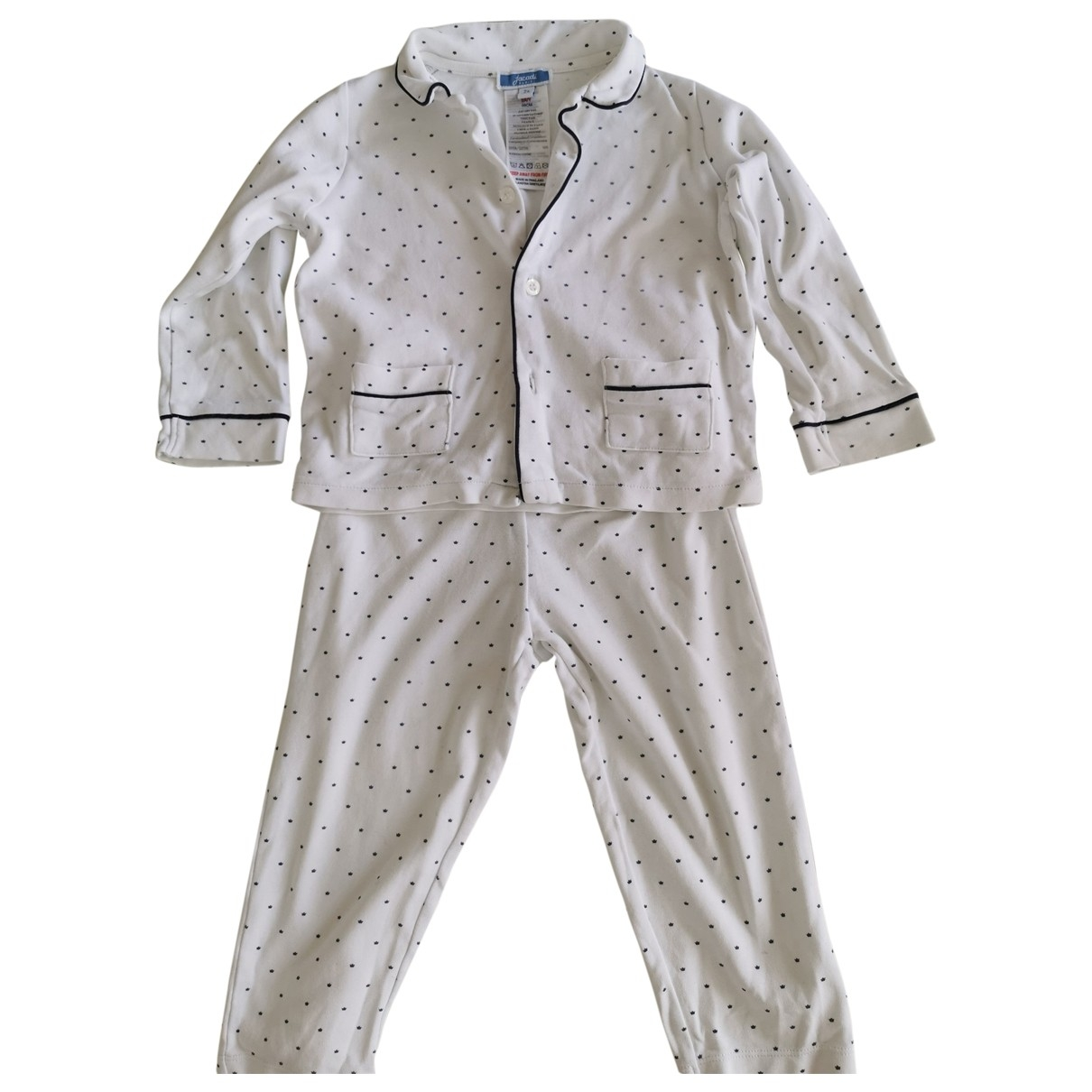 Jacadi \N White Cotton Outfits for Kids 2 years - up to 86cm FR