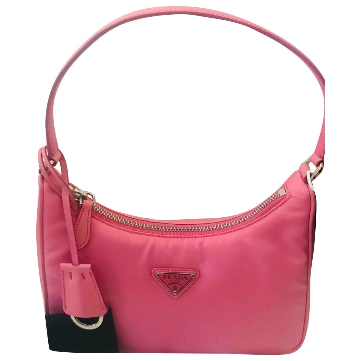 Prada Re-edition Pink Cloth handbag for Women \N