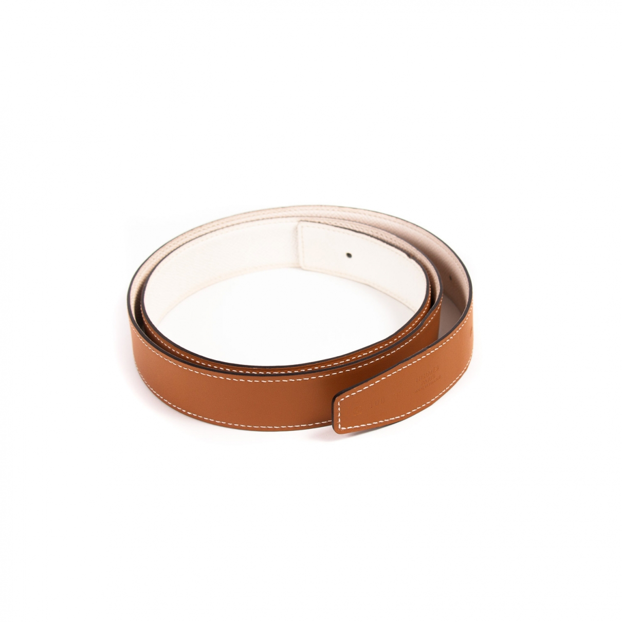 Hermès Cuir seul / Leather Strap Brown Leather belt for Women M International