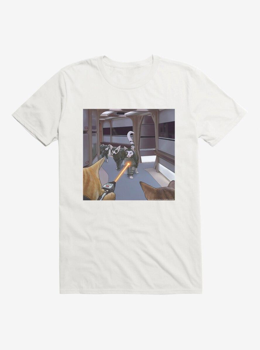 Star Trek The Next Generation Cats Enemies T-Shirt