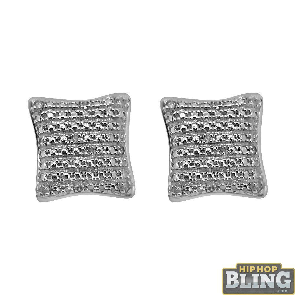 Puffed Kite Diamond Hip Hop Earrings