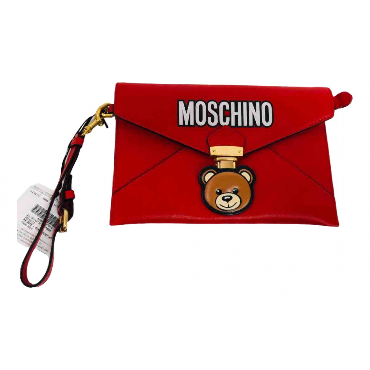 Moschino \N Red Leather Clutch bag for Women \N