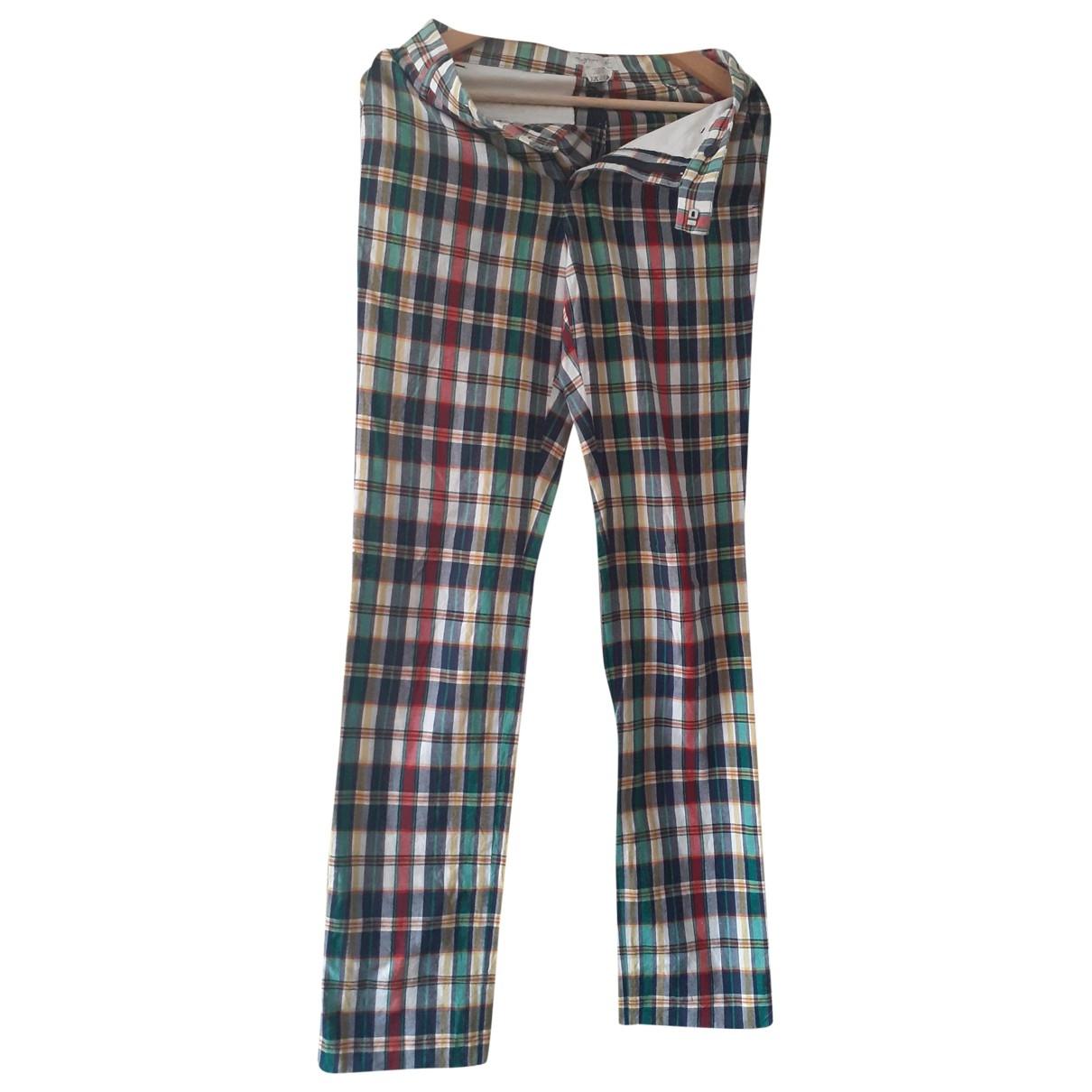 Agnès B. \N Multicolour Cotton Trousers for Women 36 FR