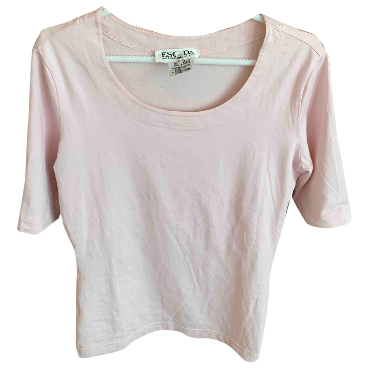 Escada \N Pink Cotton  top for Women 36 FR