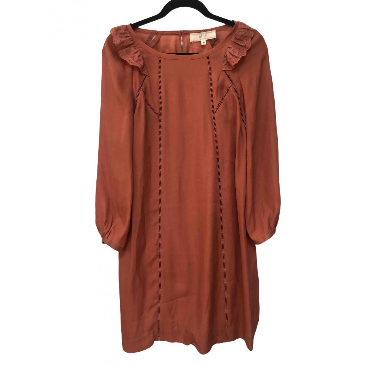 Vanessa Bruno Athe \N Orange Silk dress for Women 40 FR