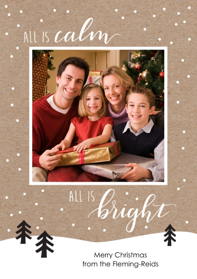Fun & Festive 5x7 Cards, Premium Cardstock 120lb, Card & Stationery -All Is Calm