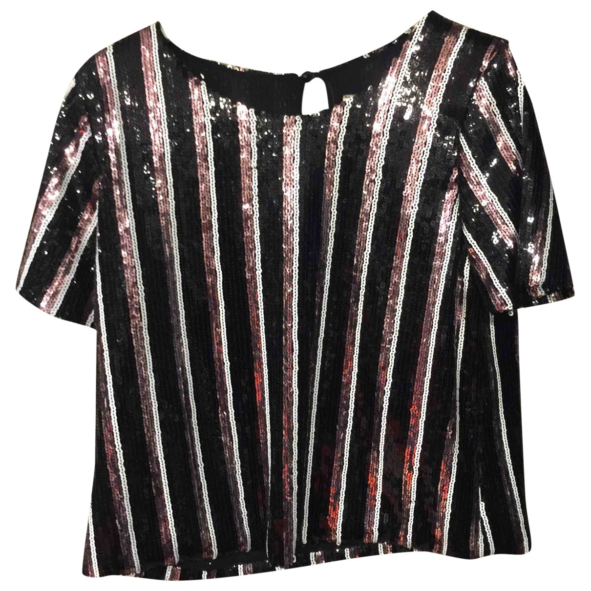 Non Signé / Unsigned \N Black Glitter  top for Women One Size IT