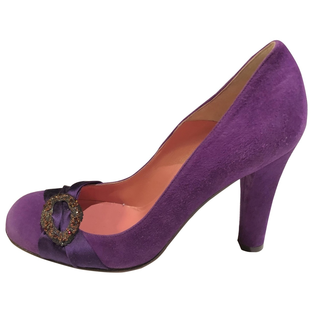 Blumarine \N Purple Suede Heels for Women 37 EU