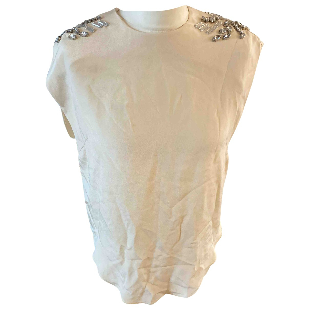 By Malene Birger \N Beige Silk  top for Women 12 UK