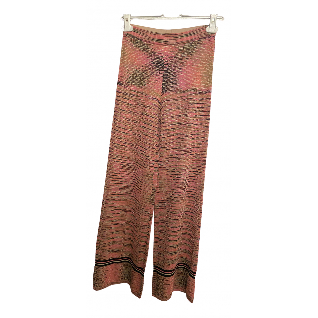 Jucca \N Pink Cotton Trousers for Women S International