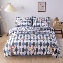 Unicorn Print Bedding Set Without Filler