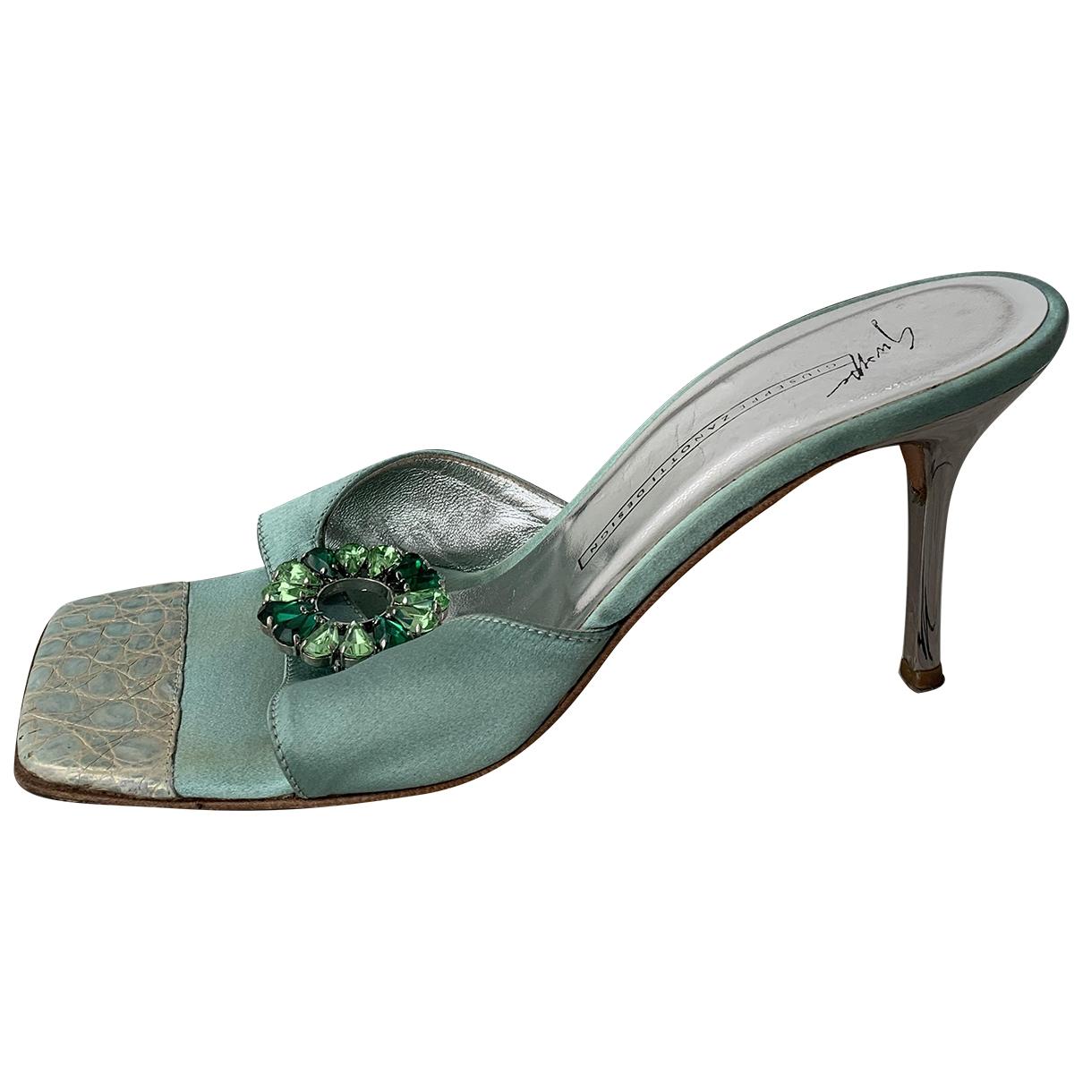 Giuseppe Zanotti \N Turquoise Glitter Sandals for Women 40 EU