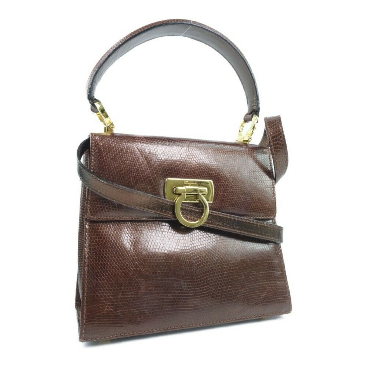 Salvatore Ferragamo \N Brown Leather handbag for Women \N