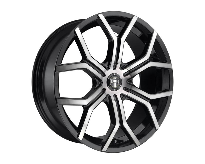 DUB S209 Royalty Wheel 22x9.5 BLANK 38mm Gloss Machined Double Dark Tint