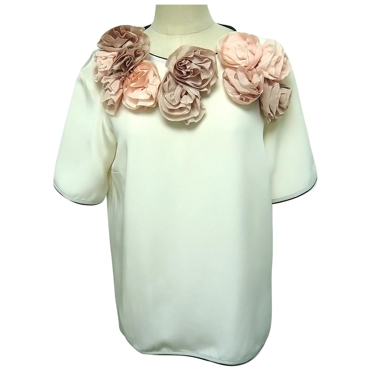 Victoria, Victoria Beckham \N White Silk  top for Women 46 IT