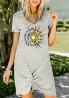 Live By The Sun Love By The Moon Twist Mini Dress - Gray