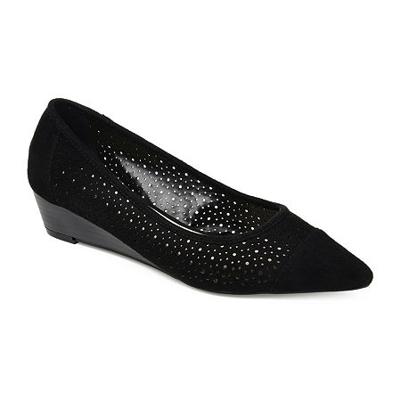 Journee Collection Womens Finnola Pointed Toe Slip-On Shoe, 6 Medium, Black