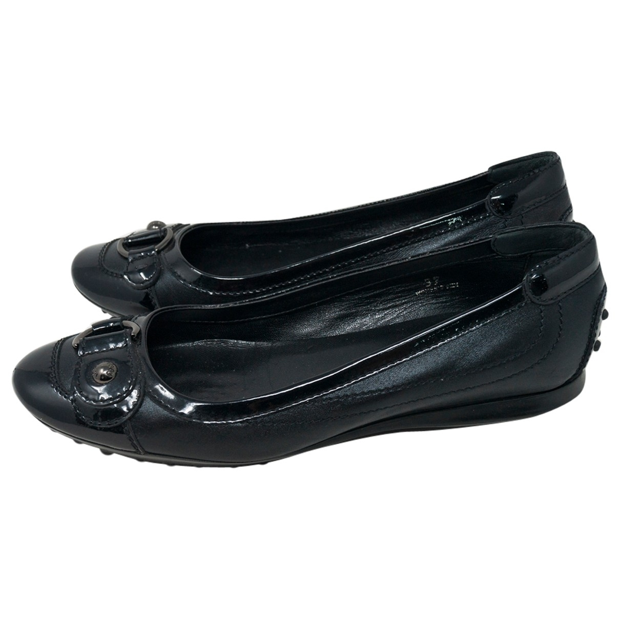 Tod's \N Black Leather Ballet flats for Women 37 IT
