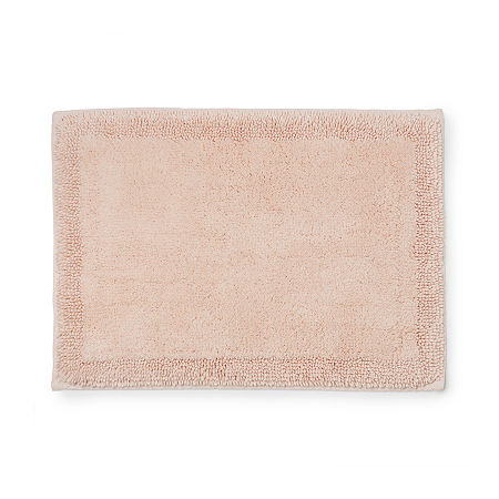 Welhome Turkish Reversible Bath Rug, One Size , Pink