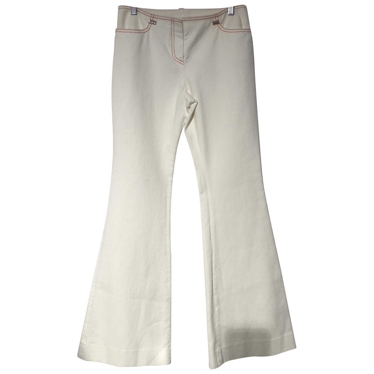 Paco Rabanne \N White Cotton Trousers for Women 38 FR