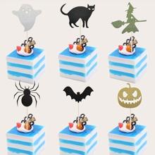 6pcs Halloween Decorative Cake Topper