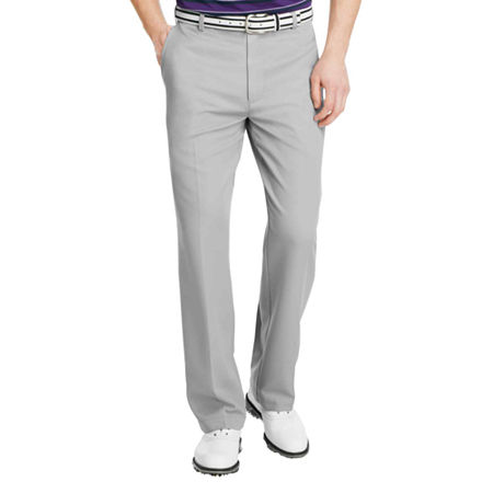 IZOD Classic Fit Microsanded Golf Pant, 32 32, Gray