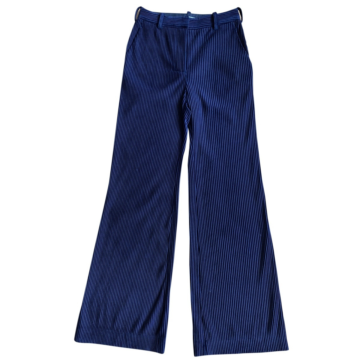 Acne Studios \N Navy Trousers for Women S International