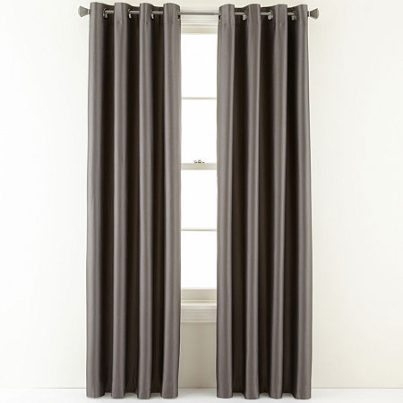 Studio Finley Grommet-Top Thermal Blackout Curtain Panel, One Size , Gray