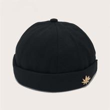 Men Leaf Decor Hat