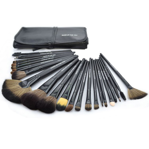 24 Pcs MAKE UP FOR YOU Makeup Brushes Tool Kit Eyeshadow Powder Wooden Brush