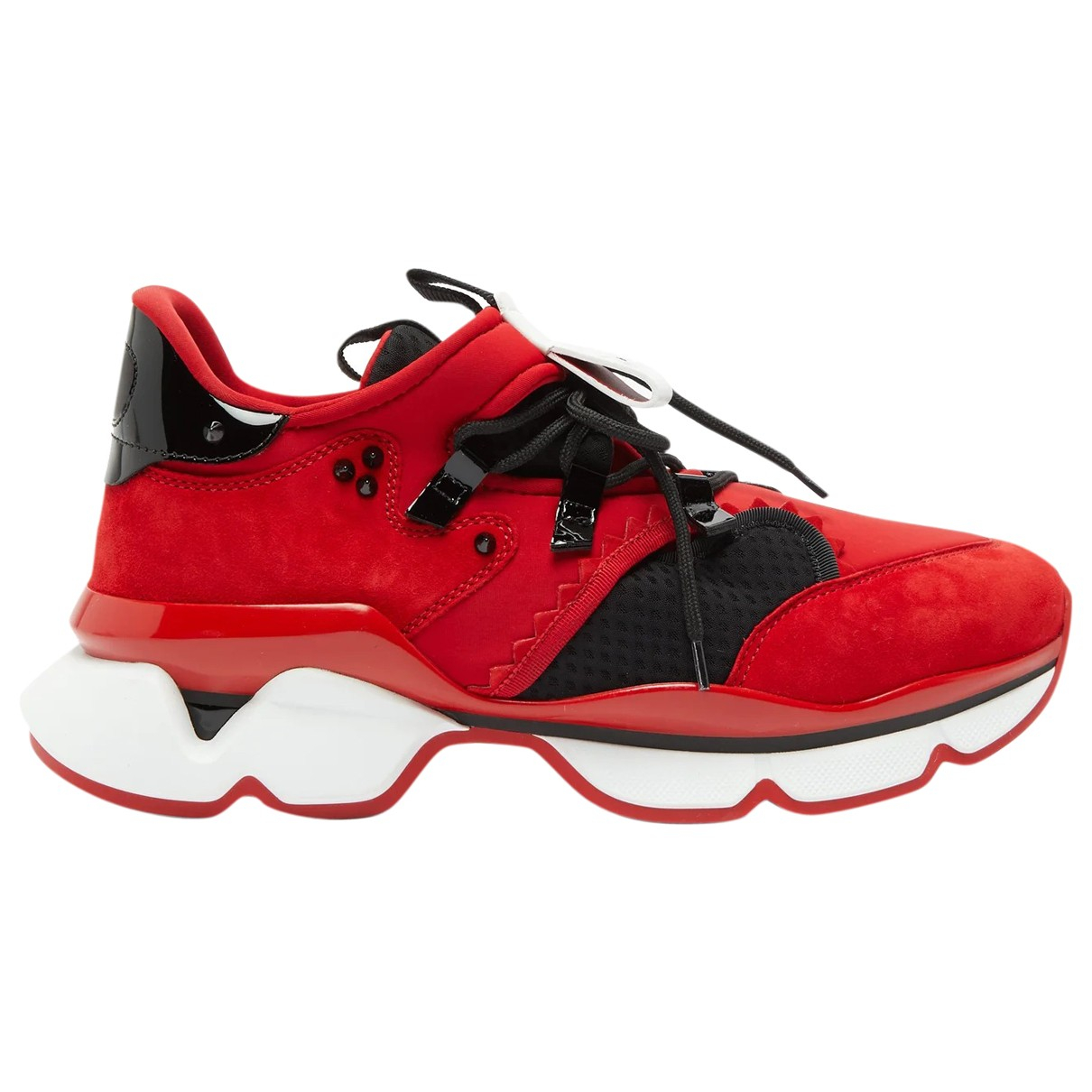 Christian Louboutin \N Red Cloth Trainers for Men 39 EU