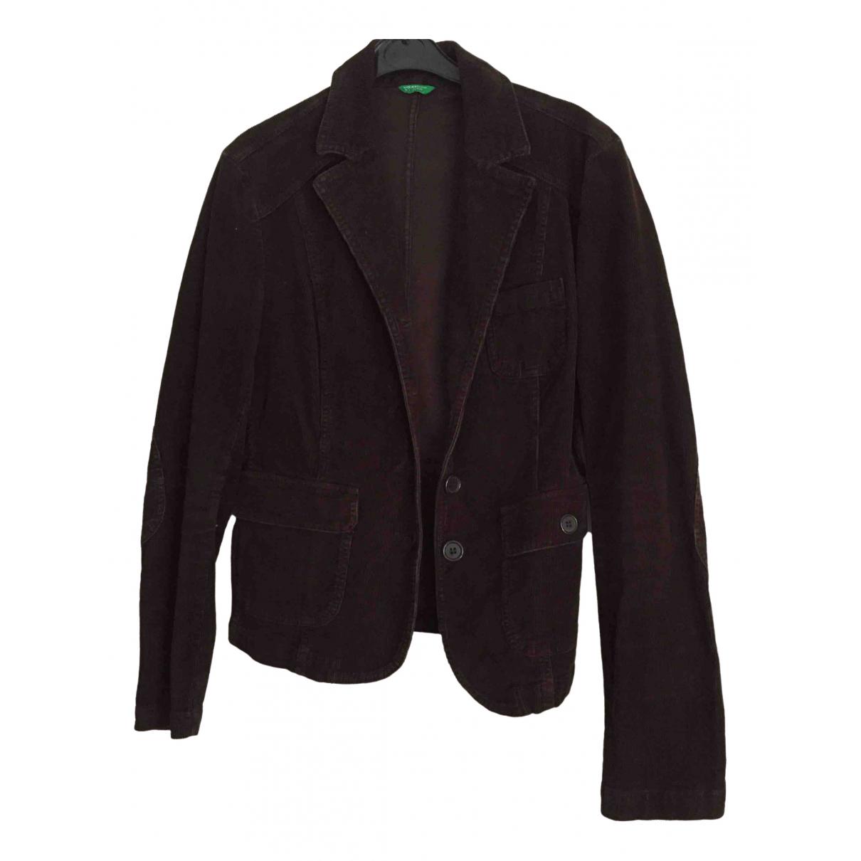 Benetton \N Brown Velvet jacket for Women 42 FR