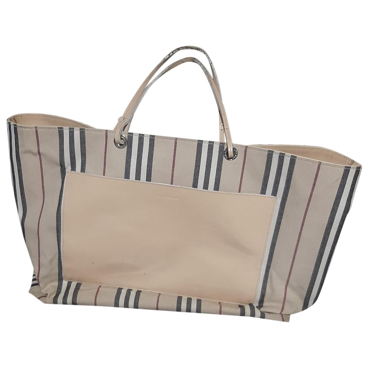 Burberry The Giant  Beige Cloth handbag for Women \N