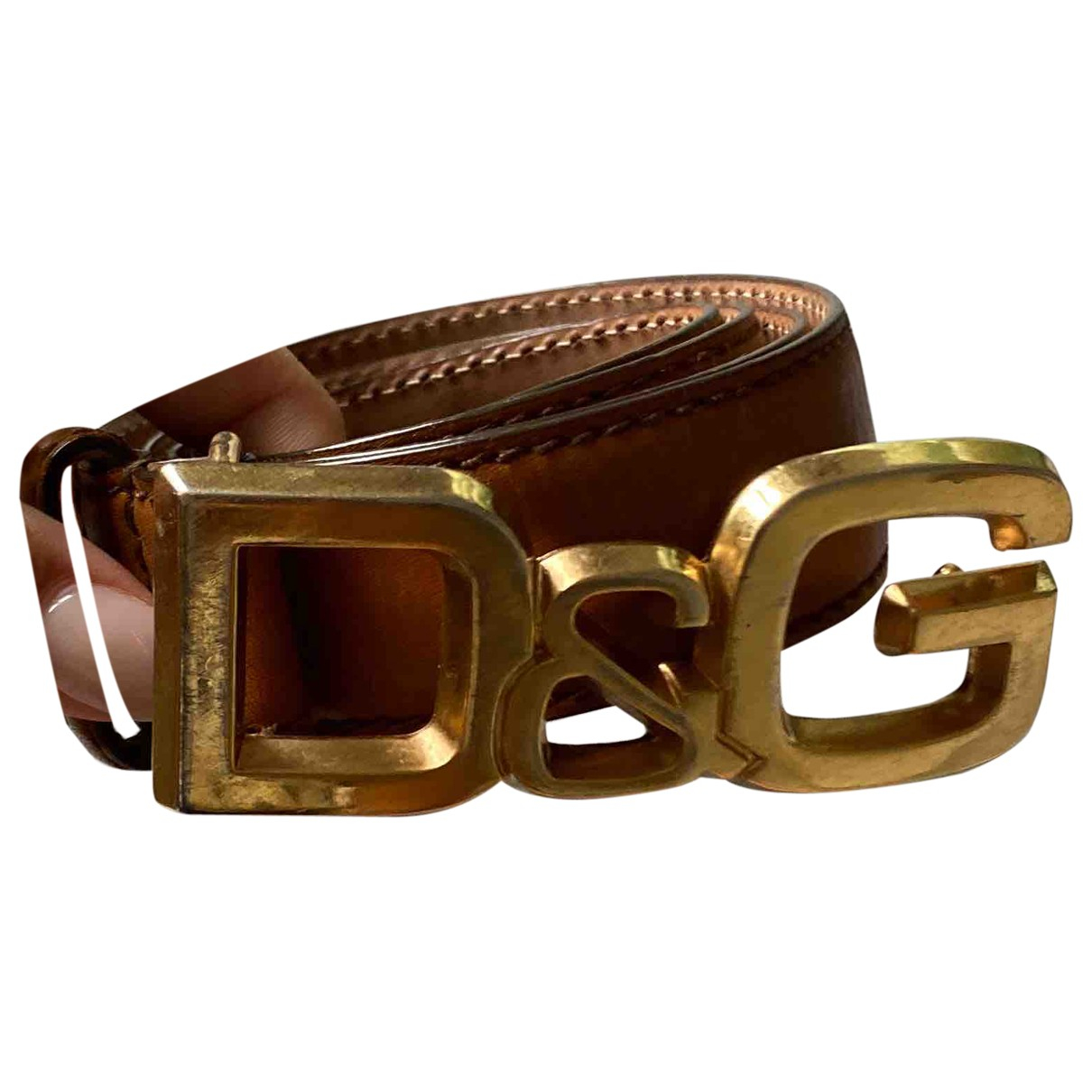 D&g \N Brown Leather belt for Women 75 cm