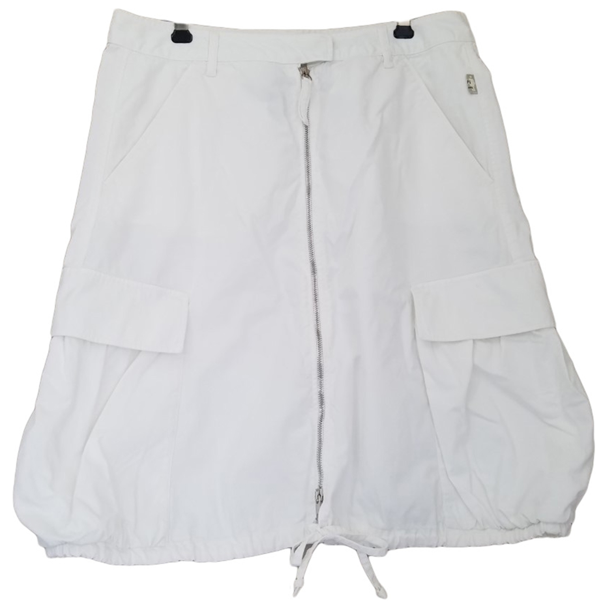 Jean Paul Gaultier \N White Cotton skirt for Women 38 FR