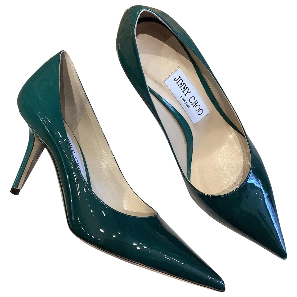 Jimmy Choo \N Green Patent leather Heels for Women 37 EU