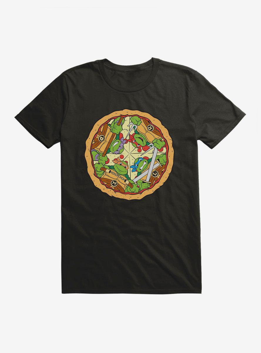 Teenage Mutant Ninja Turtles Group On Pizza Slices T-Shirt