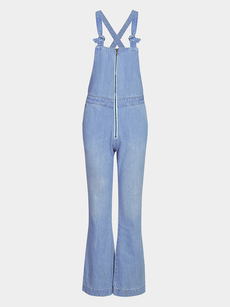 Yoins Fashion Denim Zip Front Jumpsuit