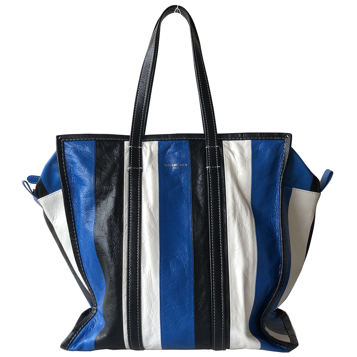 Balenciaga Bazar Bag Blue Leather handbag for Women \N