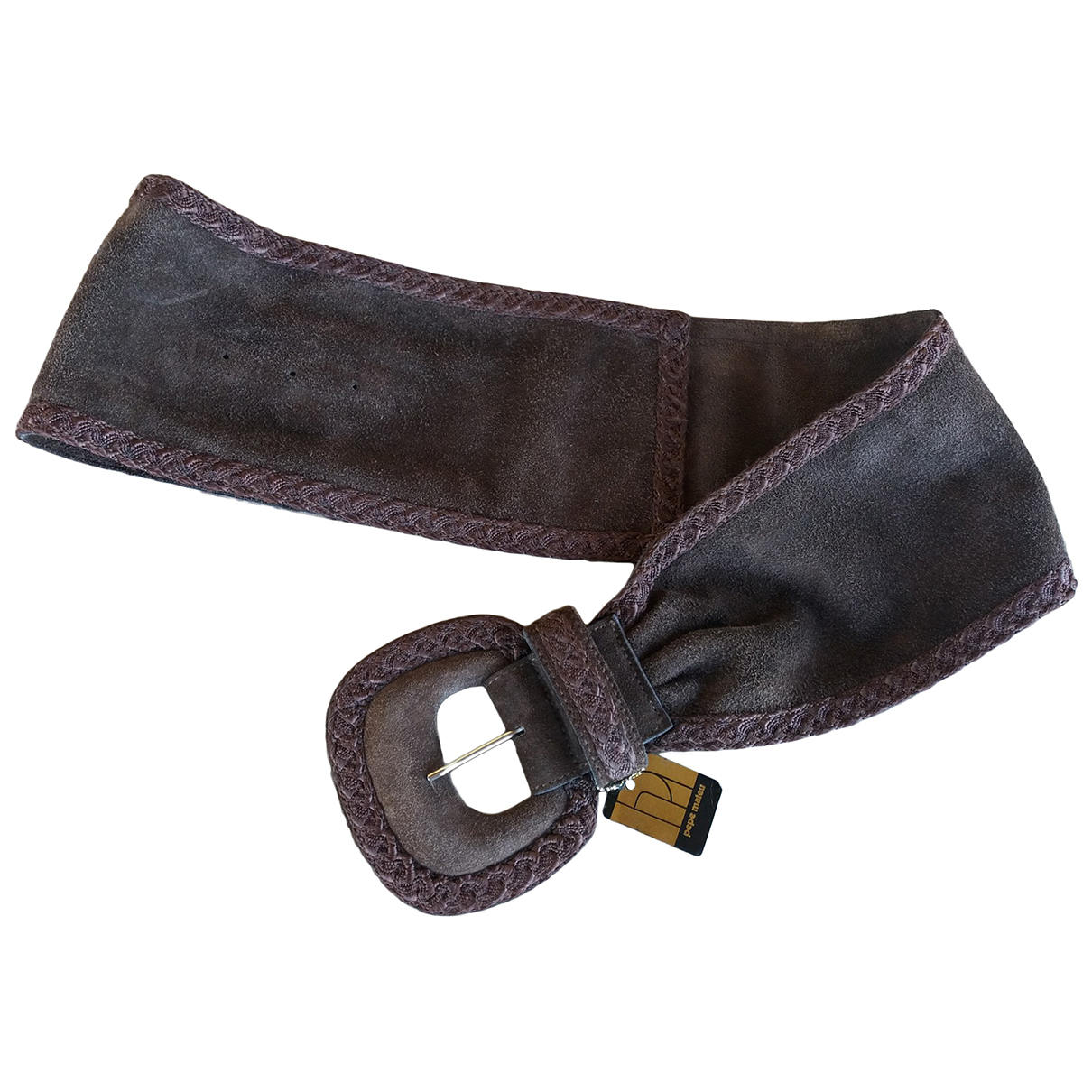 Non Signé / Unsigned \N Brown Suede belt for Women 80 cm
