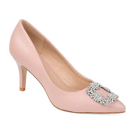 Journee Collection Womens Izzie Pumps Stiletto Heel, 7 1/2 Medium, Pink