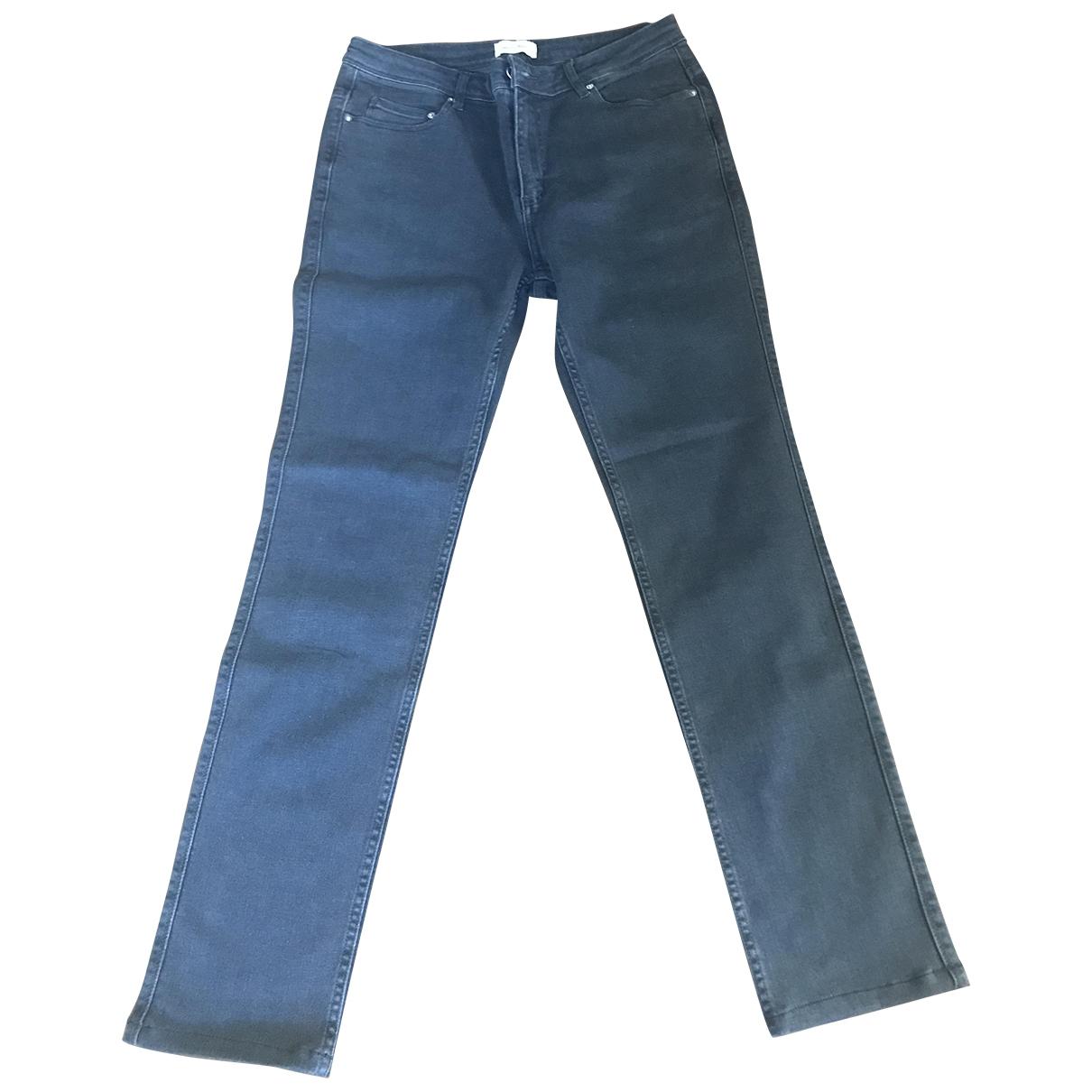 American Vintage \N Grey Cotton - elasthane Jeans for Men 32 US
