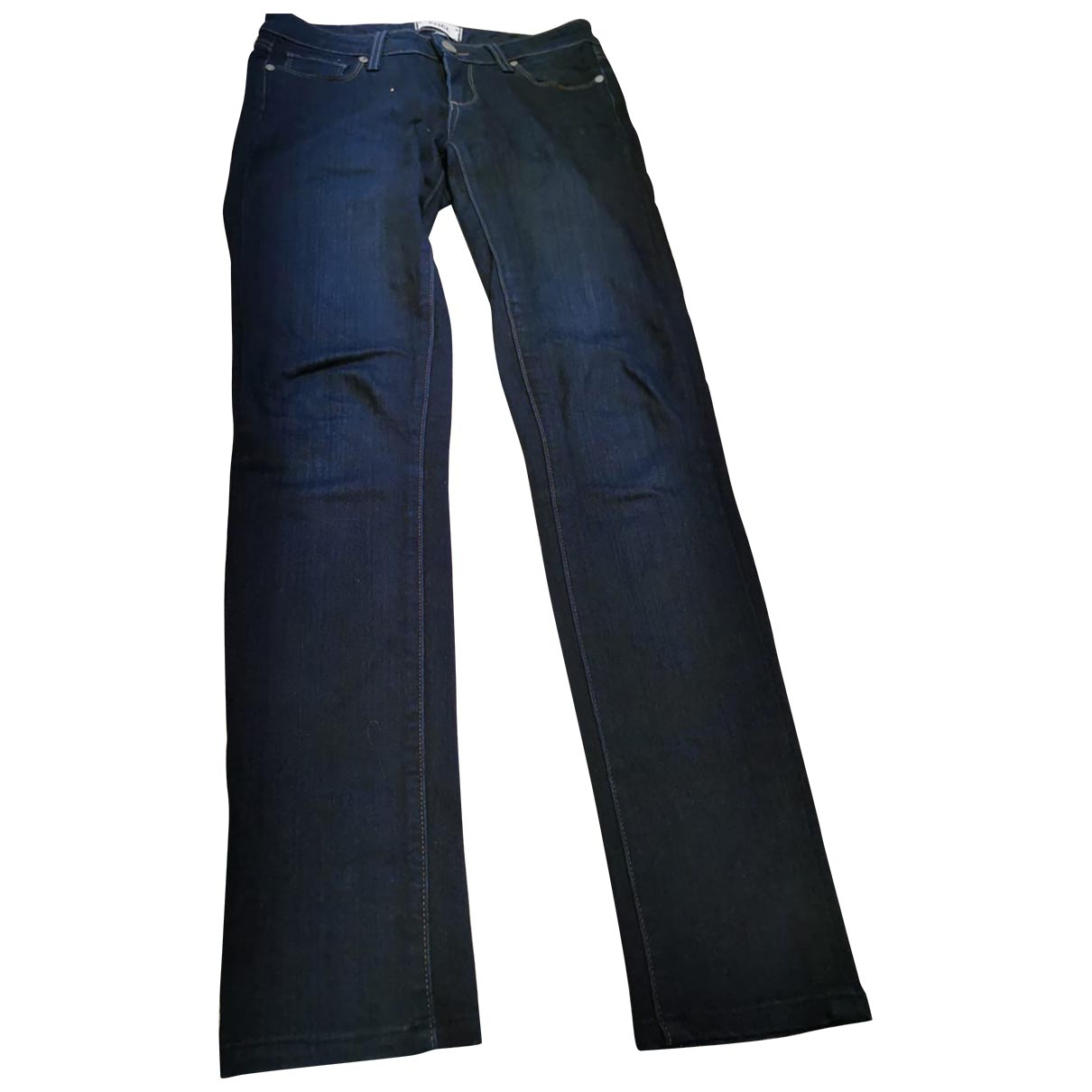 Paige Jeans \N Blue Cotton Trousers for Women 8 UK