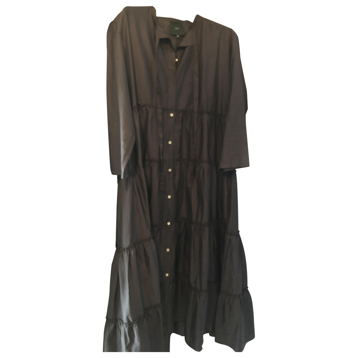 Non Signé / Unsigned \N Anthracite Cotton dress for Women 46 IT