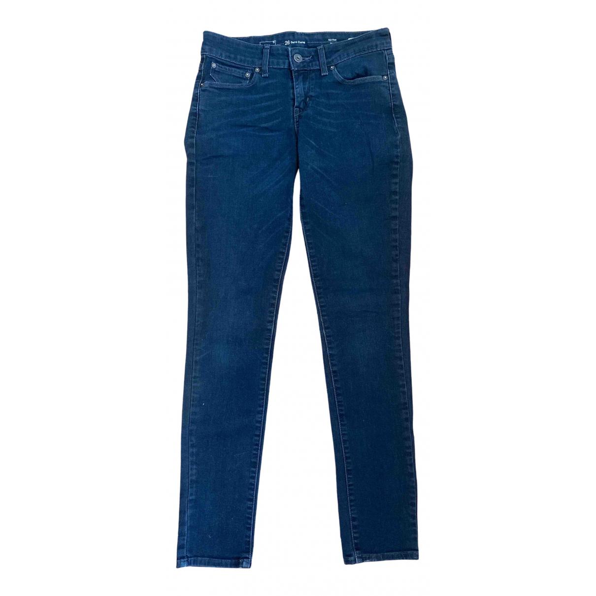Levi's \N Black Cotton Jeans for Women 36 FR